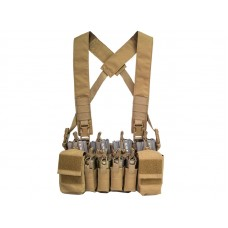 Big Foot D3CRX Chest Rig Vest 4 Mag Version (Tan)