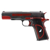 "Armorer Works Custom ""Molon Labe Deadpool"" 1911A1 Gas Blowback Pistol (Full Metal - Deadpool Grip)"