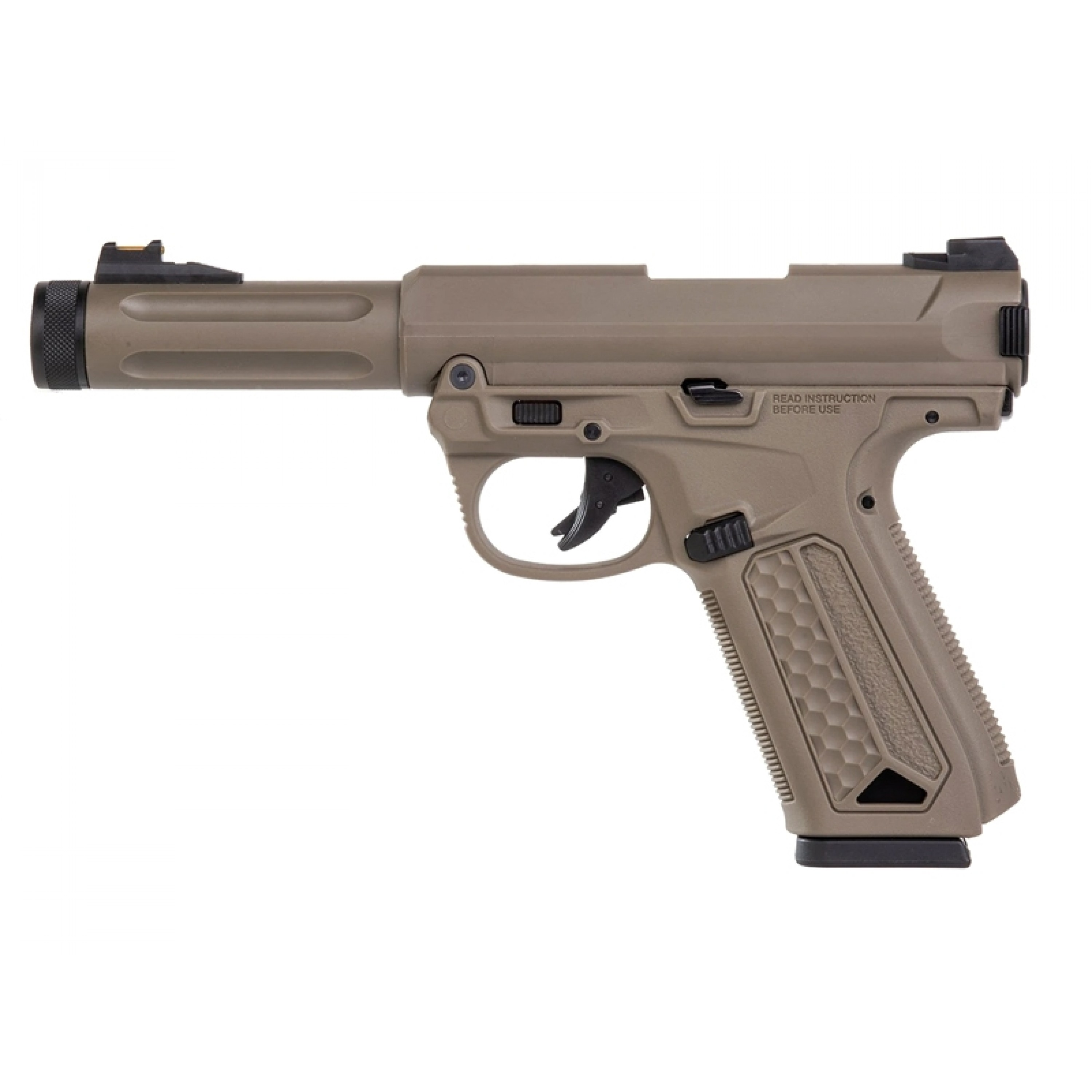 Action Army Ruger MKIV Gas Blowback Pistol (AAP01 - Tan)