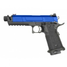 Army Custom 5.1 Hi-Capa with Costa Compensator (With Silencer Adapter - Full Metal - Blue - R501)