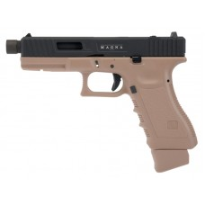 Secutor - Gladius Magna VI - 17 Series Co2 Blowback Pistol (Tan/Black - Dual Tone)