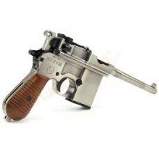 WE 712 Gas Pistol with Stock & Case in 1 - Silver