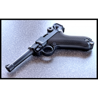 "WE P08 4"" Classic Luger Metal  in Black GBB."