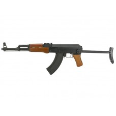 Cyma AK47-S AEG Rifle with Folding Stock (Real Wood - CM042S - 1.5j - Semi Only)