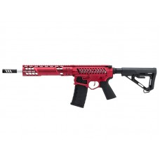 EMG F1 Firearms SBR AEG Rifle with RS-3 Stock (Silver Edge Gearbox/eSE Electronic Trigger - Red - eSBR-BLS-3)