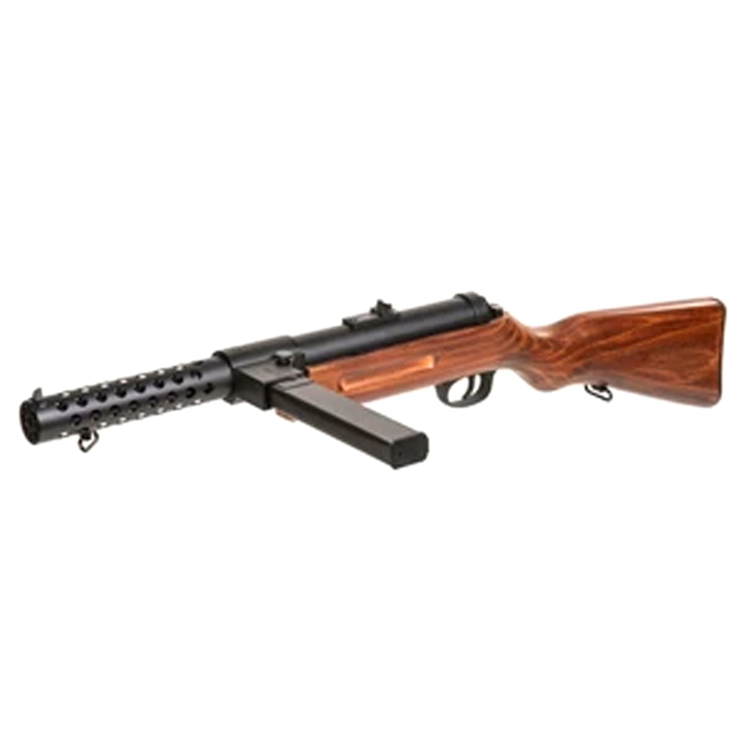 Snow Wolf Bergmann MP-18 AEG SMG (Metal - Real Wood Stock - SW-021 - SEMI ONLY/1.5 JOULE)