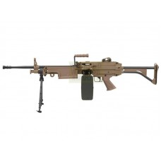 A&K M249 MK1 AEG with Sound Control Drum Magazine - Tan